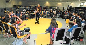 School drumming workshop