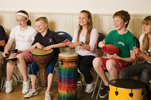 Primary school drumming workshop