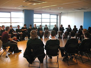 Secondary school drumming workshop